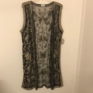 Maxi Embroidered Vest
